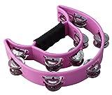 YMC Half Moon EZ Grip Tambourine 20 Jingles - Pink