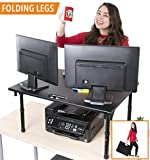 Stand Steady Folding Standing Desk / Portable Standing Table w/ Handle! Heavy Duty and Perfect for Traveling & Storage! Great for Corner Desk or Cubes (Executive - 31.5'' x 23.5'')