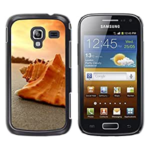 LECELL--Funda protectora / Cubierta / Piel For Samsung Galaxy Ace 2 -- Seashell Arena --