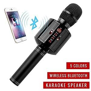piple q8 bluetooth karaoke microphone wireless microphone hi fi speaker protable. Black Bedroom Furniture Sets. Home Design Ideas