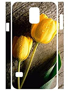 Fresh Floral Print Individualized Dust Protection Phone Case for Samsung Galaxy S5 I9600