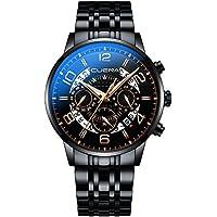 CUENA Men's Chronograph Waterproof Wristwatch Analog Sport Watch Business Stopwatch