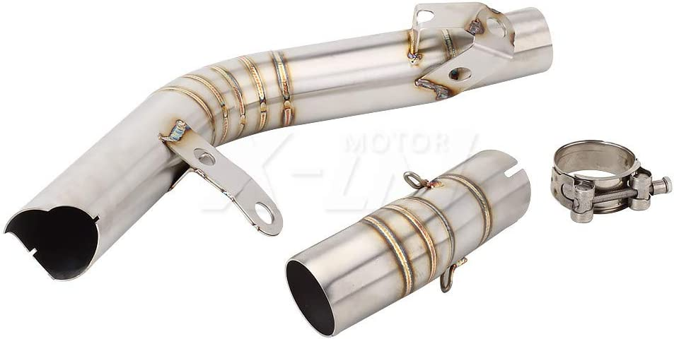 KYN for Suzuki GSXR600 GSXR750 2011 2012 2013 2014 2015 2016 2017 GSXR 600 750 L1 Decat Pipe Slip-on Motorcycle Exhaust Link Pipe and Escape Pipe