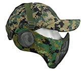 Jadedragon Half Face Mask - Airsoft Mesh Mask with