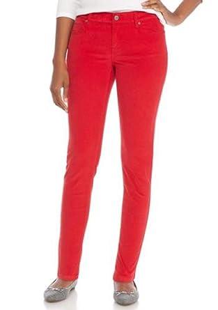 2baefcb04 Amazon.com: Crown & Ivy Womens Petite Core Corduroy Pant (Red Hots ...
