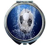 Rikki Knight Soccer Ball Splash Design Round Compact Mirror