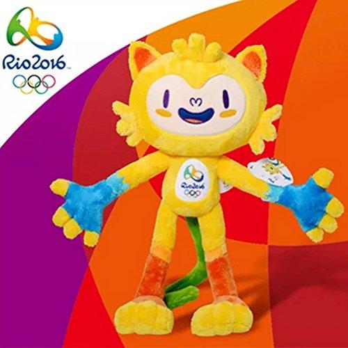 2016 Brazil Rio Olympic Summer Sport Games Mascot Cartoon Plush Toys Vinicius Stuffed Dolls for Fans Kids