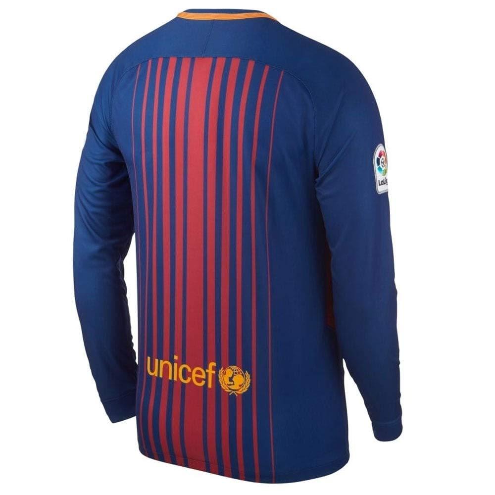 e10d330c9 Amazon.com  NIKE Men s FC Barcelona Long Sleeve 2018 Breathe Stadium Home  Soccer Jersey (Blue Red)  Sports   Outdoors
