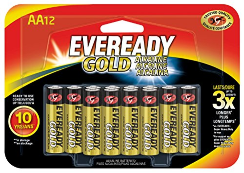 Energizer Eveready Gold AA Batteries, 12 Count