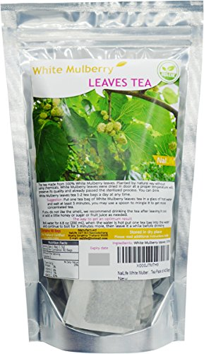 NalLife White Mulberry (Morus Alba) Leaves Tea Pack of 40 Bags