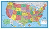 24x36 United States, USA Classic Elite Wall Map Mural Poster (Laminated)