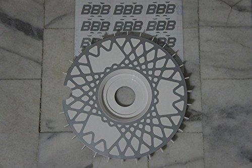 BBS RS turbofán réplicas Turbo ventiladores bremsenlüfter rueda ventiladores turbolüfter lüfterräder blanco centro de gran calibre (72 mm, color blanco): ...