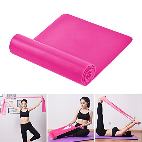 Flat Exercise Band 4 ft. Long Resistance Bands (Light Medium Heavy)Free Home Gym Fitness Equipment Workout Straps For Physical Therapy, Pilates, Stretch, Yoga,Ballet, Strength Training (pink)