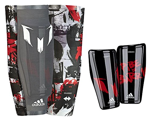 adidas Herren Schienbeinschoner Messi 10, Black/Power Red/White, M, S14684