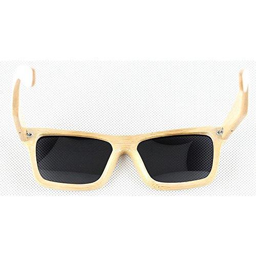 de Gafas sol de sol polarizadas madera retro gafas a Retro de de bambú mano de y gafas los hombres conducción de sol la unisex playa G Blanco sol de de de de gafas hechas señora sol Gafas de protección de UV qA5xdF