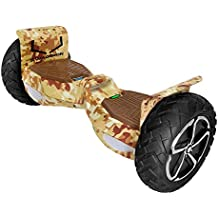 """Swagtron T6 Off-Road Hoverboard - First in the World to Handle Over 380 LBS, Up to 12 MPH, UL2272 Certified, 10"""" Wheel (Desert Camouflage)"""