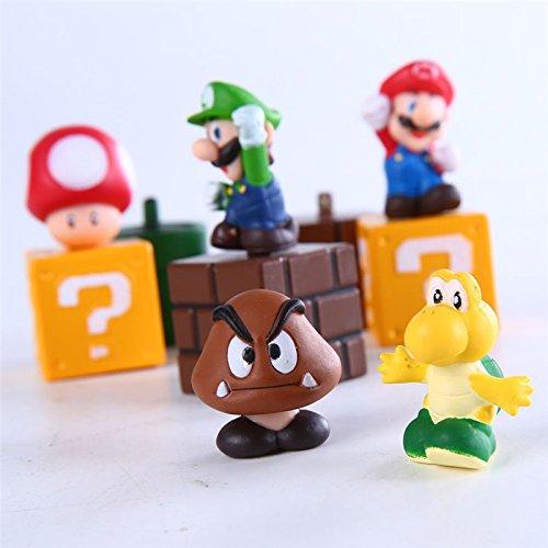 5 pcs Nintendo Super Mario Bros Action Figures Set New Super Mario Action Toy