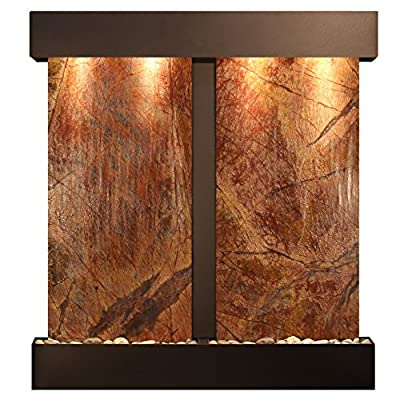 Aspen Falls Water Feature with Blackened Copper Trim and Square Edges