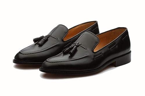 mens black leather loafer shoes