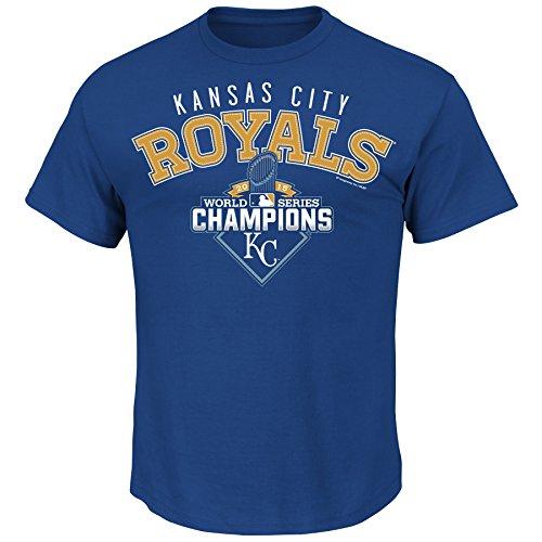 (MLB Kansas City Royals Men's World Series Champ The Cycle Tee, Large, Royal)