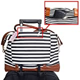 Women Ladies Travel Bag Carry-On Weekender Overnight Canvas Duffel Luggage Tote