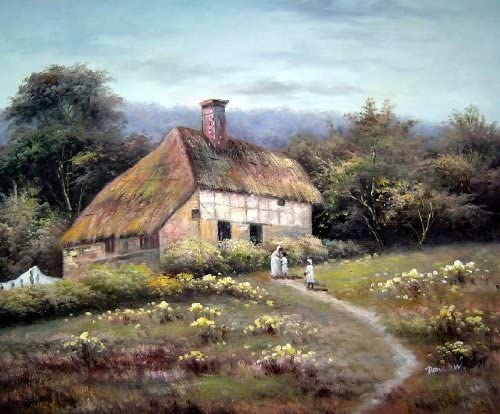 Amazon Com Beyonddream Oil Painting 20 X24 Small Old House