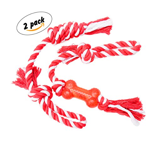 Cotton Rope Rubber Handle 2 Pack