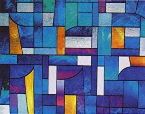 """Abstract Stained Glass Privacy Window Film 36"""" Wide x 50 ft. Roll"""