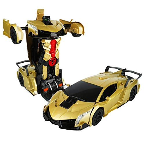 - leiyini Transformation Car Toy,Car Model with Gesture Induction Deformation Car Robot