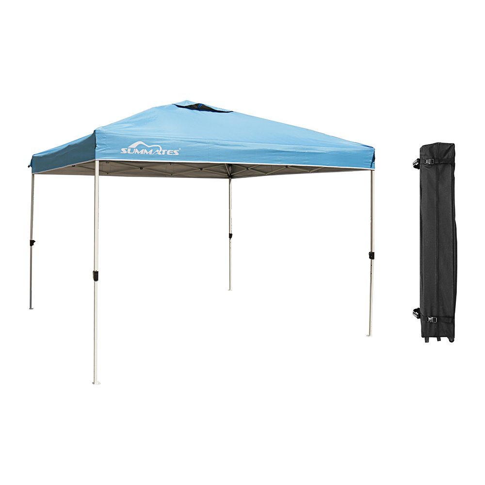 Summates 10X10ft Instant Canopy,Pop Up Canopy,Booth Canopy,Color Light Blue,Royal Blue, Khaki,Green Aavilable (10'X 10' Canopy, Light Blue) by