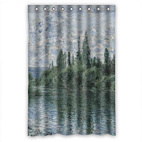 cosbudy Custom Design Claude Monet Art Painting Shower Curtain, Size Width X Height / 48 X 72 Inches/W H 120 by 180 cm, Polyester, Rust Proof, Best and Suitable for Husband