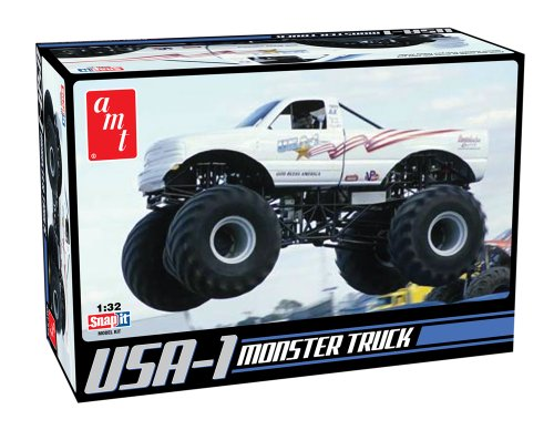 Round 2 AMT USA-1 4x4 Monster Truck Snap Together Kit (Level 2 Model Kit)