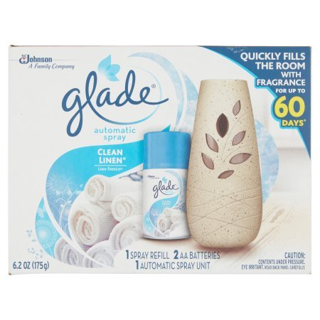 Pack of 4 - Glade Automatic Spray Air Freshener Starter Kit, Clean Linen, 6.2 Fluid oz, Blue by Glade (Image #5)