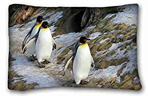 Custom Animal Custom Cotton & Polyester Soft Rectangle Pillow Case Cover 20x30 inches (One Side) suitable for Full-bed