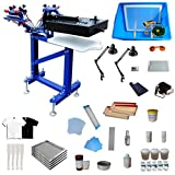 Fine Tuning Rotating 3 Color 1 Station Floor Type Screen Printing Kit Screen Printing Machine with Flash Dryer Water Based Ink UV Exposure Unit Included
