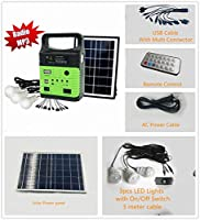 10-Watt Solar Generator Portable kit,Power Inverter,Solar Generator System for Home & Camping,7000mAh Rechargeable lithium Battery Pack UPS Power Supply, Included 7 Watt Solar Panels