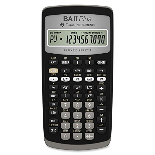 Texas Instruments BA II Plus Financial Calculator (2-Pack) by Texas Instruments