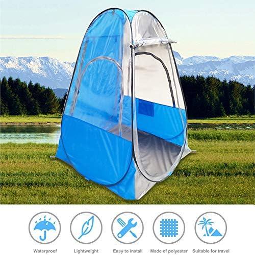 Douche Privacy Wc-tent, Pop-up vissentent, Afneembare kleedkamer Tent, Eenvoudig op te zetten Draagbaar buitentent Kamptoilet, Regenopvang voor kamperen en strand