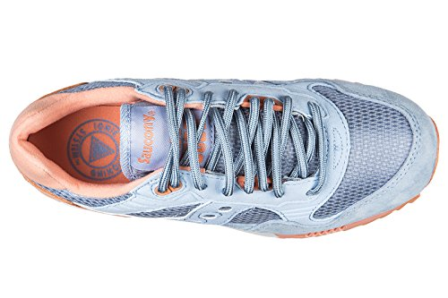 Saucony chaussures baskets sneakers femme en daim shadow 5000 blu