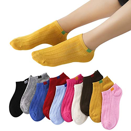 Lovescenario Spring Fashion Creative Charming Warm Sock Low Invisible Socks Women's Socks Cotton Personality Striped Socks Unique's(Color:Yellow)(Size:)