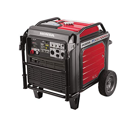 Honda Power Equipment EU7000IAT1 660270 7,000W Super Quiet Portable Inverter Generator with Electric Start, Steel (Best 7000 Watt Generator)