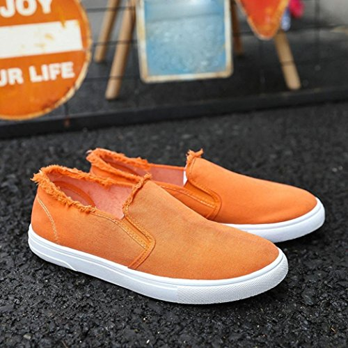 Uomo Bianche da Scarpe Stile Sneakers Scarpe Singole ASHOP Uomo Uomo Scarpe Arancione College in Tela da College q4wgZF4A