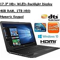 Flagship Model HP Pavilion 17.3 Premium High Performance Laptop (1600x900), 7th Gen. Intel Core i5-7200U, 4GB RAM, 1TB HDD, Windows 10