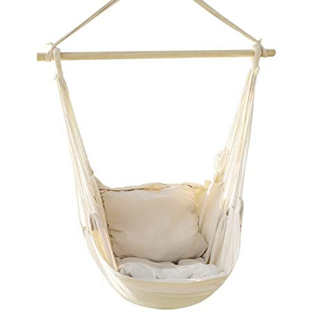 Exceptionnel EverKing Hanging Rope Hammock Chair Porch Swing Seat, Large Hammock Net  Chair Swing, Cotton