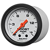 "Auto Meter (5702) Phantom 2-1/16"" 0-15 PSI Mechanical Boost Gauge"