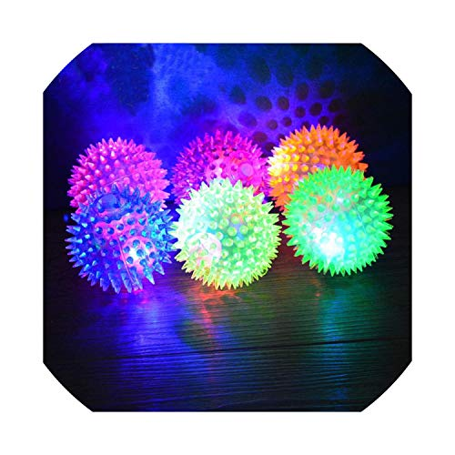 7.5cm Pet Dog Rubber Pinball Balls and A Ball Packing Orange Rubber Resistance to Bite Molars Toys Pet Supplies Light 5 Colors,As -