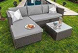 Sue Ryder Corner Modular Rattan Garden Furniture Set Ottoman Sofa, Dark Grey FREE COVER
