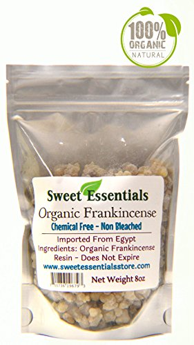 (Sweet Essentials 100% Pure Organic Frankincense Resin/Tears - 8oz)