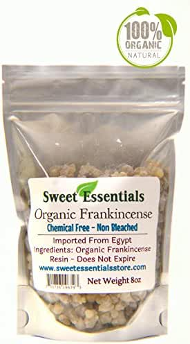 100% Pure Organic Frankincense Resin / Tears - 8oz - High Quality - By Sweet Essentials