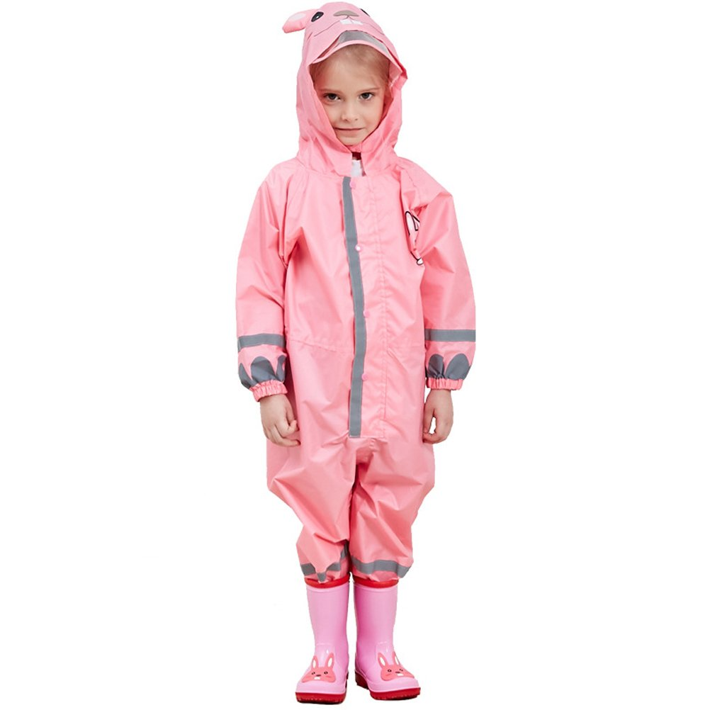 Childrens Waterproof Rainsuit, All in One Dry Suit for Outdoor Play, Ideal Outerwear for Boys and Girls